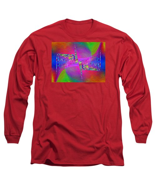 Long Sleeve T-Shirt featuring the digital art Abstract Cubed 373 by Tim Allen