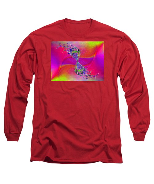 Long Sleeve T-Shirt featuring the digital art Abstract Cubed 377 by Tim Allen