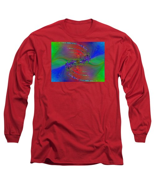 Long Sleeve T-Shirt featuring the digital art Abstract Cubed 384 by Tim Allen