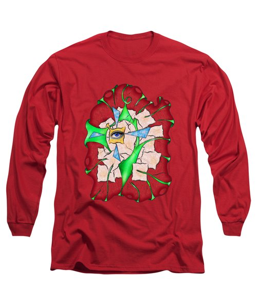 Abstract Digital Art - Deniteus V2 Long Sleeve T-Shirt