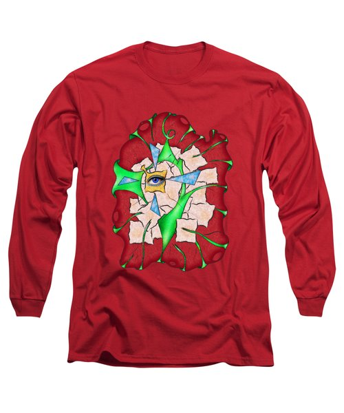 Abstract Digital Art - Deniteus V2 Long Sleeve T-Shirt