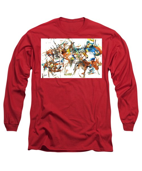 Long Sleeve T-Shirt featuring the painting Abstract Expressionism Painting Series 1041.050812 by Kris Haas