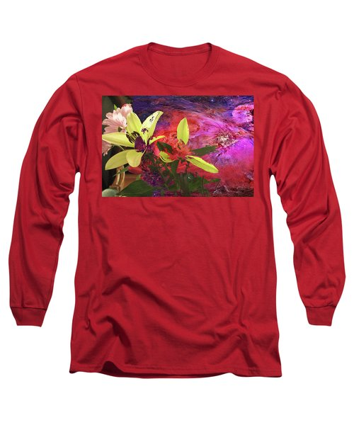 Abstract Flowers Of Light Series #16 Long Sleeve T-Shirt