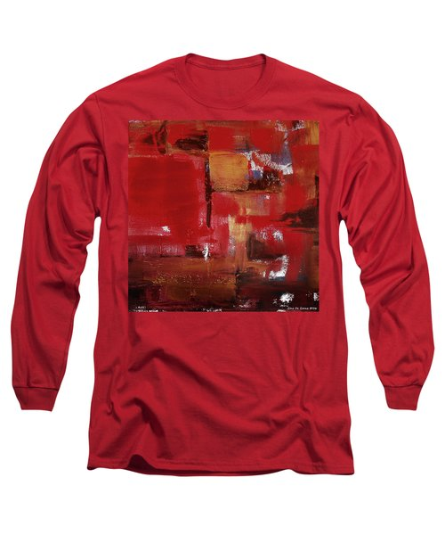 Abstract In Red Long Sleeve T-Shirt