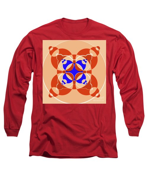 Abstract Mandala Pink, Orange And Blue Pattern For Home Decoration Long Sleeve T-Shirt
