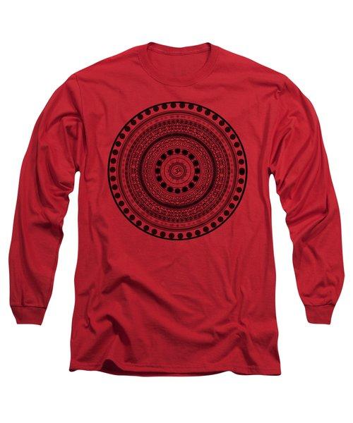 Abstract Om Mandala Long Sleeve T-Shirt