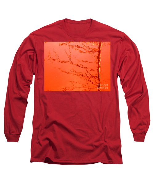 Abstract Orange Long Sleeve T-Shirt