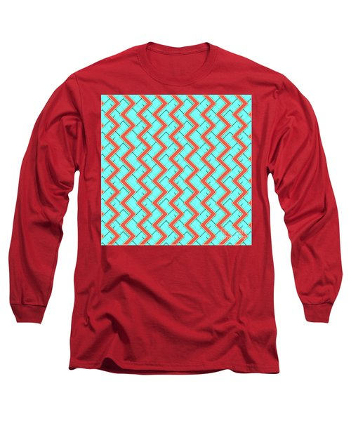 Abstract Orange, Yellow And Cyan Pattern For Home Decoration Long Sleeve T-Shirt
