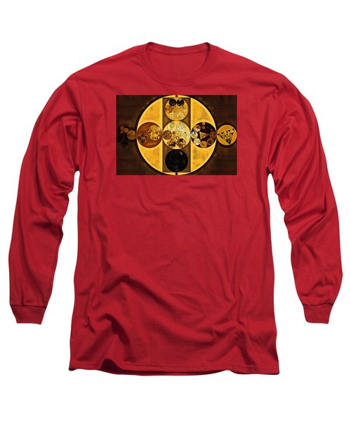 Abstract Painting - Sepia Long Sleeve T-Shirt