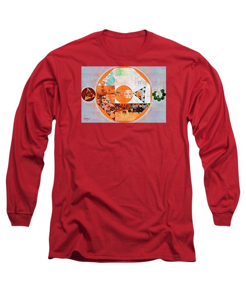 Abstract Painting - Silver Long Sleeve T-Shirt