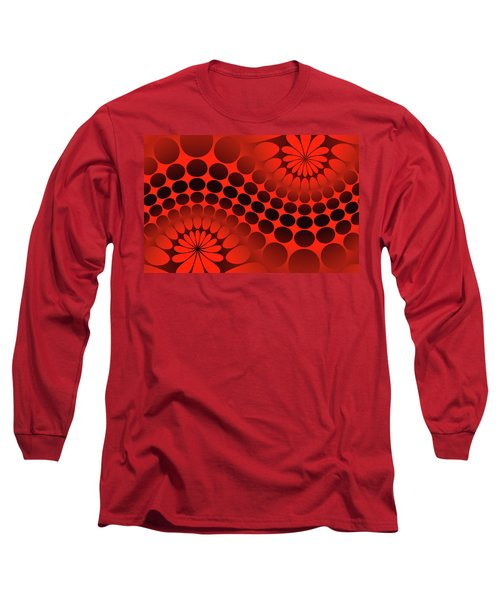 Abstract Red And Black Ornament Long Sleeve T-Shirt
