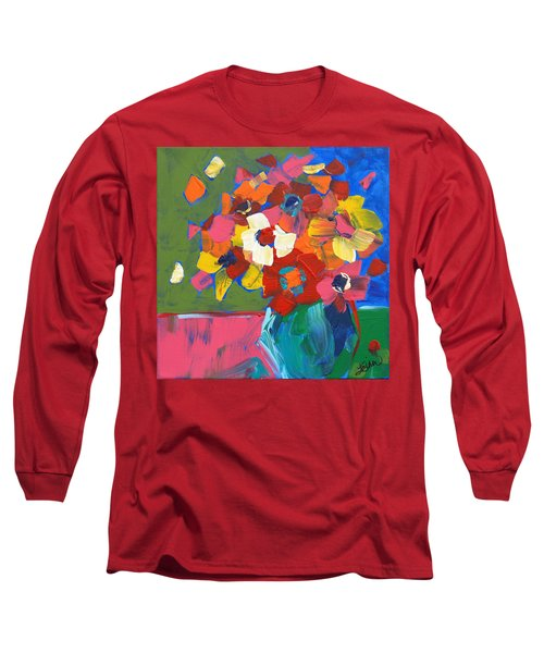 Abstract Vase Long Sleeve T-Shirt by Terri Einer