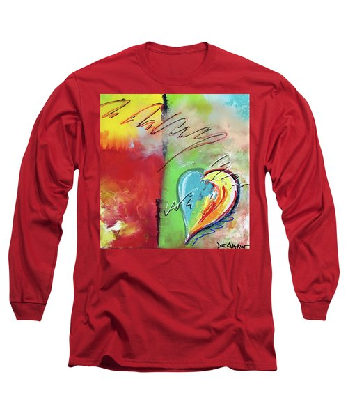 Abstract With Heart Long Sleeve T-Shirt