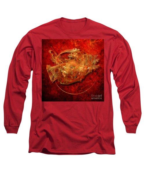 Long Sleeve T-Shirt featuring the digital art Abstractfantasy No. 1 by Alexa Szlavics