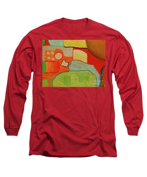 Long Sleeve T-Shirt featuring the pastel Abstraction123 by Paul McKey