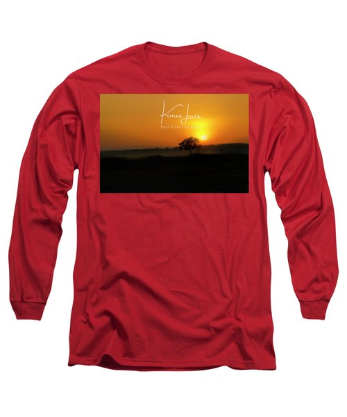 Long Sleeve T-Shirt featuring the photograph Acacia Tree Sunrise by Karen Lewis