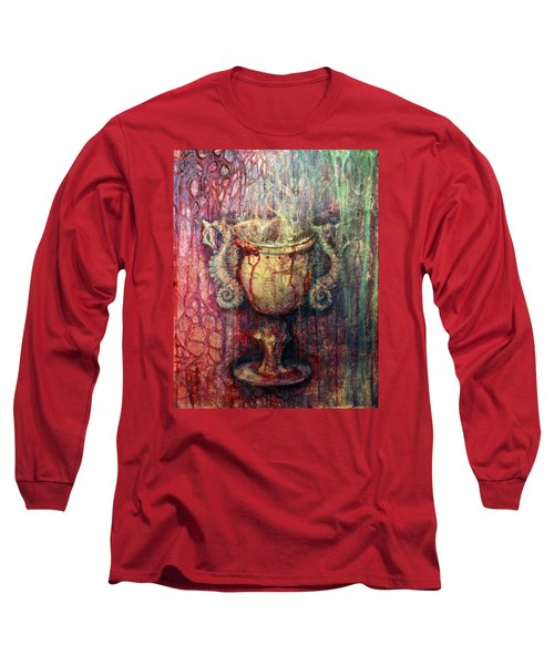 Ace Of Cups Long Sleeve T-Shirt by Ashley Kujan