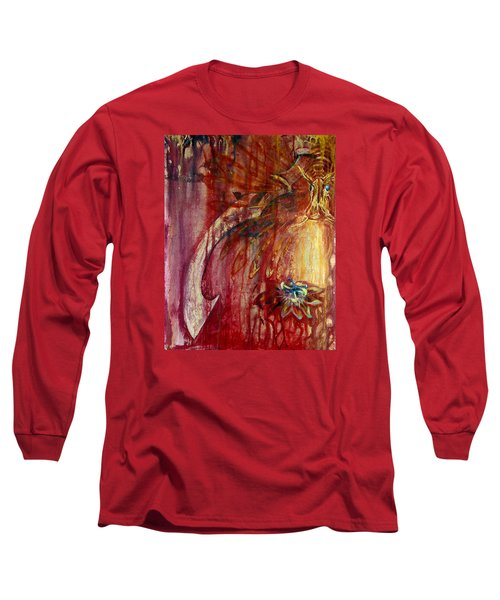 Ace Of Swords Long Sleeve T-Shirt by Ashley Kujan