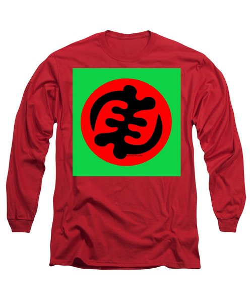 Adinkra Symbol Gye Nyame Except God Only God Long Sleeve T-Shirt