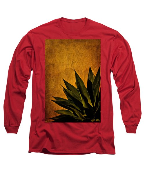 Adobe And Agave At Sundown Long Sleeve T-Shirt by Chris Lord