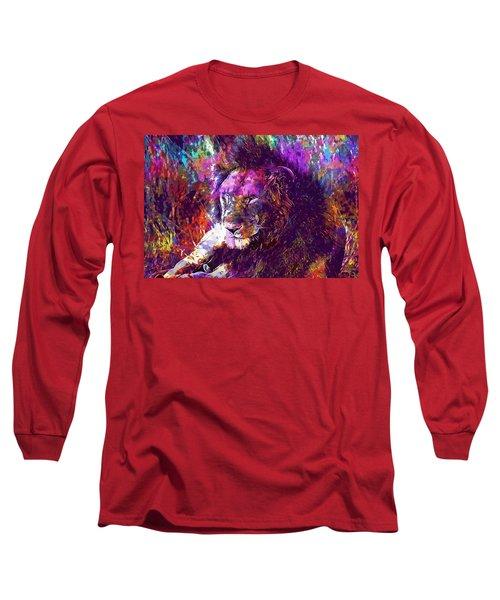 Long Sleeve T-Shirt featuring the digital art Africa Safari Tanzania Bush Mammal  by PixBreak Art