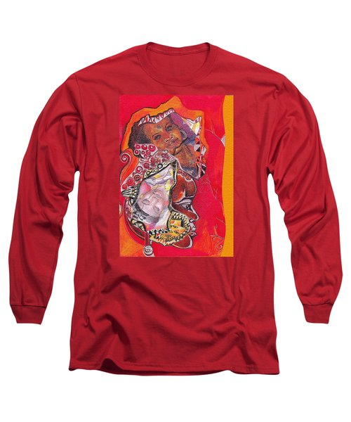 African Crown Long Sleeve T-Shirt