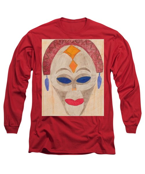 African Mask Long Sleeve T-Shirt