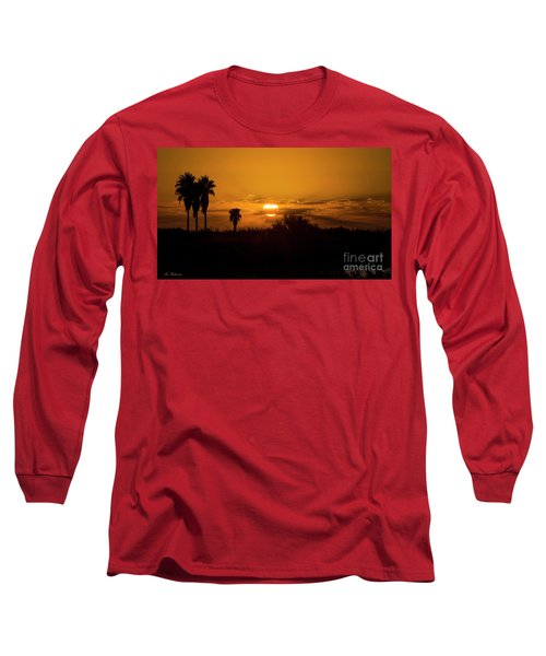 Long Sleeve T-Shirt featuring the photograph  African Style Sunset by Arik Baltinester