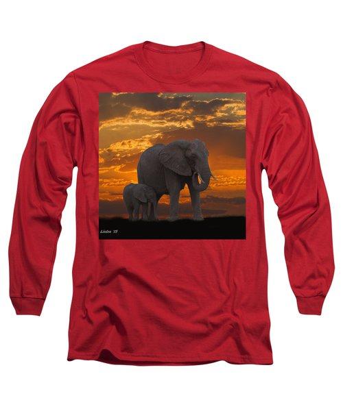 African Sunset-k Long Sleeve T-Shirt