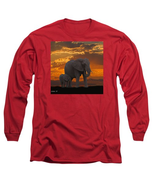African Sunset-k Long Sleeve T-Shirt