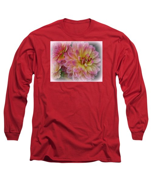 After The Rain - Dahlias Long Sleeve T-Shirt by Dora Sofia Caputo Photographic Art and Design