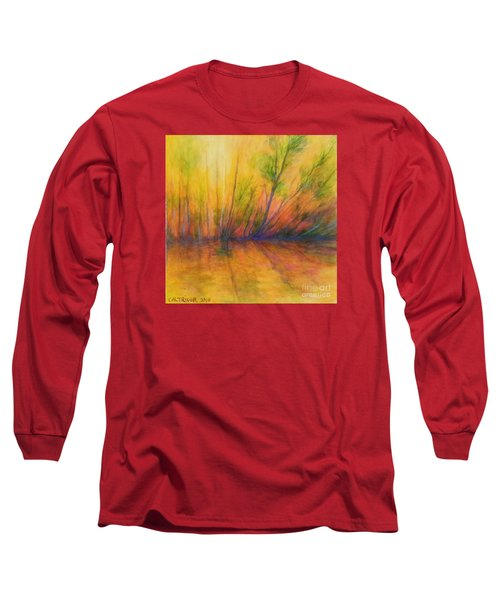 Long Sleeve T-Shirt featuring the painting Afternoon Glow  by Alison Caltrider
