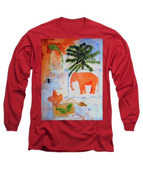Long Sleeve T-Shirt featuring the painting All Creatures Great And Small by Sandy McIntire