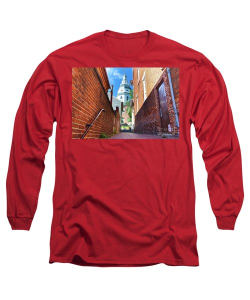 Alley View Of Maryland State House  Long Sleeve T-Shirt