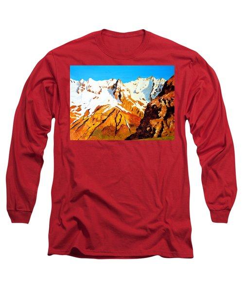 Alpine Landscape Long Sleeve T-Shirt by Henryk Gorecki