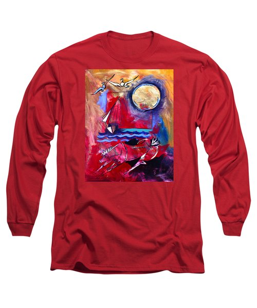 Ameeba 34-horse And Sailboat Long Sleeve T-Shirt