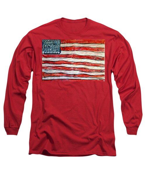 American Social Long Sleeve T-Shirt by Paulo Guimaraes