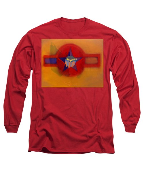 Long Sleeve T-Shirt featuring the painting American Sub Decal by Charles Stuart