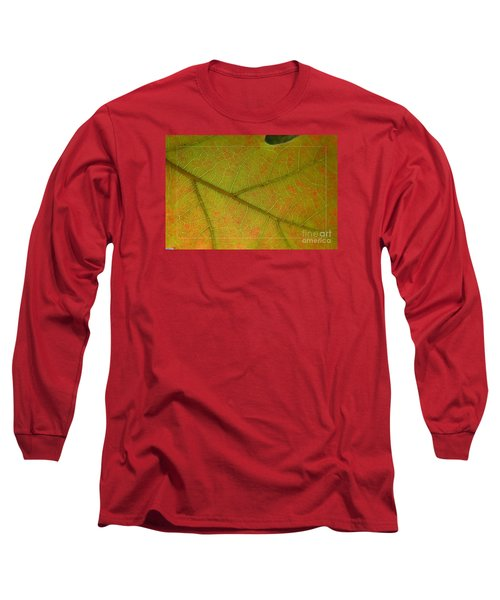 Long Sleeve T-Shirt featuring the photograph An Autumn Leaf by Jean Bernard Roussilhe