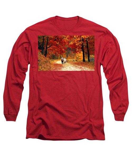 An Autumn Walk Long Sleeve T-Shirt