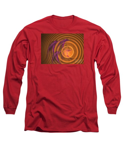 An Echo From The Past - Abstract Art Long Sleeve T-Shirt by Sipo Liimatainen