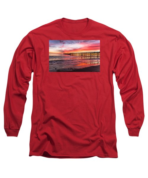 Long Sleeve T-Shirt featuring the photograph Seacliff Sunset by Lora Lee Chapman