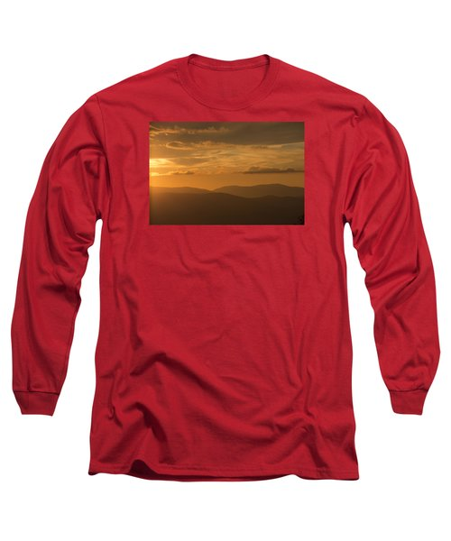 An Orange Vermont Sunset Long Sleeve T-Shirt