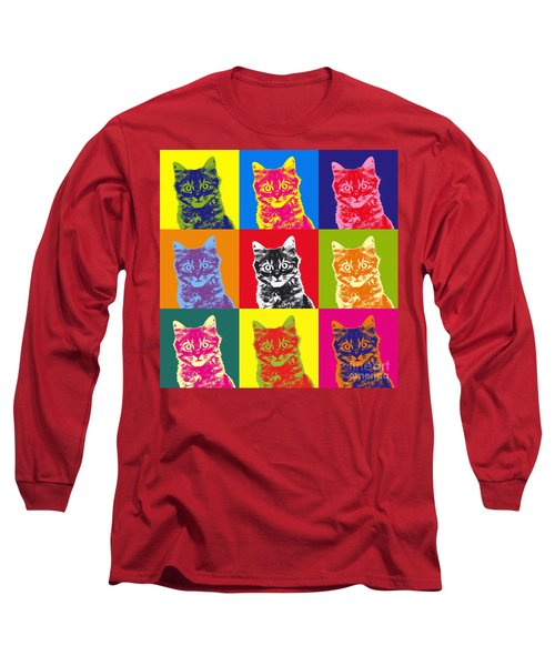 Andy Warhol Cat Long Sleeve T-Shirt