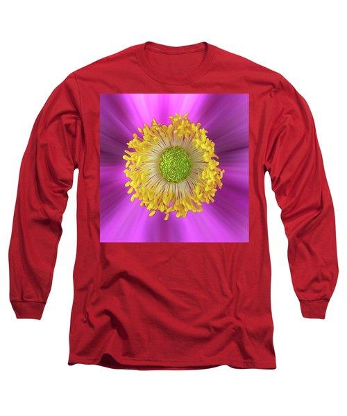 Anemone Hupehensis 'hadspen Long Sleeve T-Shirt by John Edwards