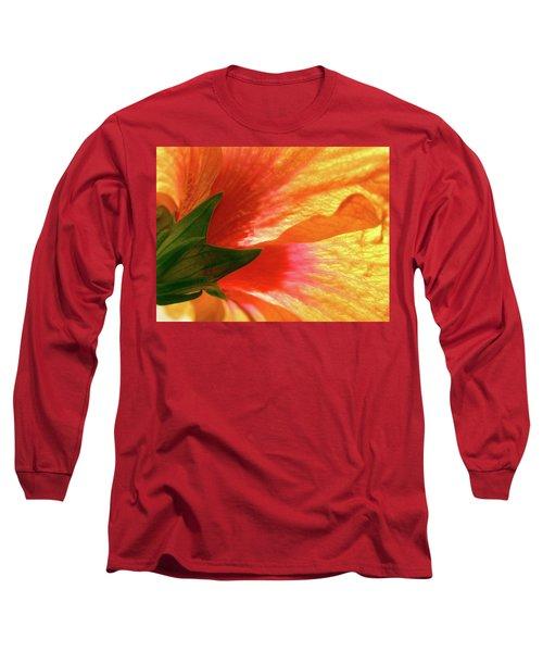Angel Brushstrokes  Long Sleeve T-Shirt by Marie Hicks