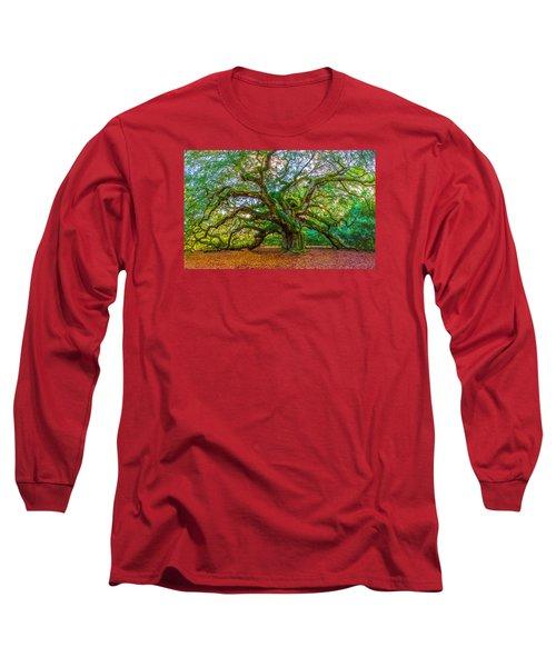 Angel Oak Tree Charleston Sc Long Sleeve T-Shirt by John McGraw
