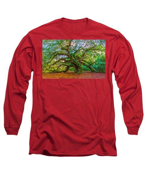 Angel Oak Tree Charleston Sc Long Sleeve T-Shirt
