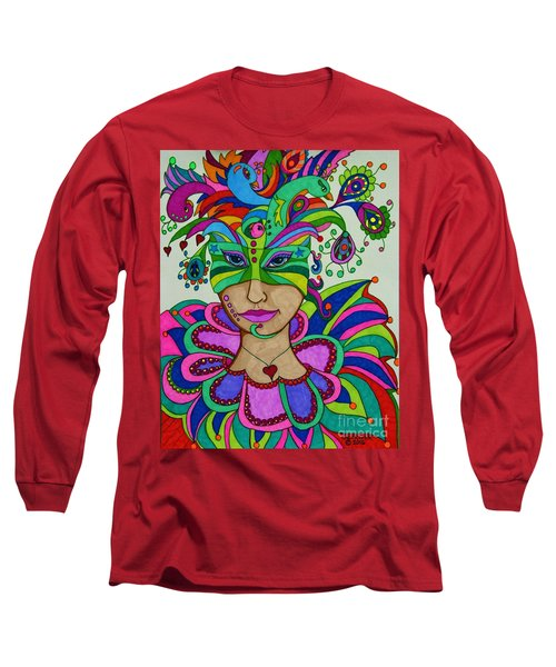 Long Sleeve T-Shirt featuring the painting Angelique by Alison Caltrider