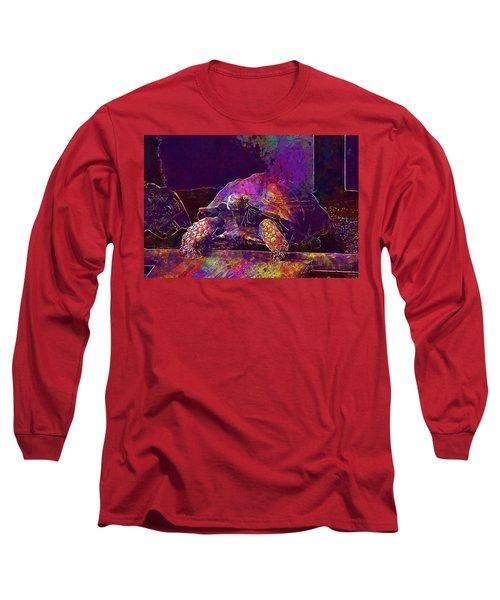 Long Sleeve T-Shirt featuring the digital art Animal Turtle Zoo  by PixBreak Art